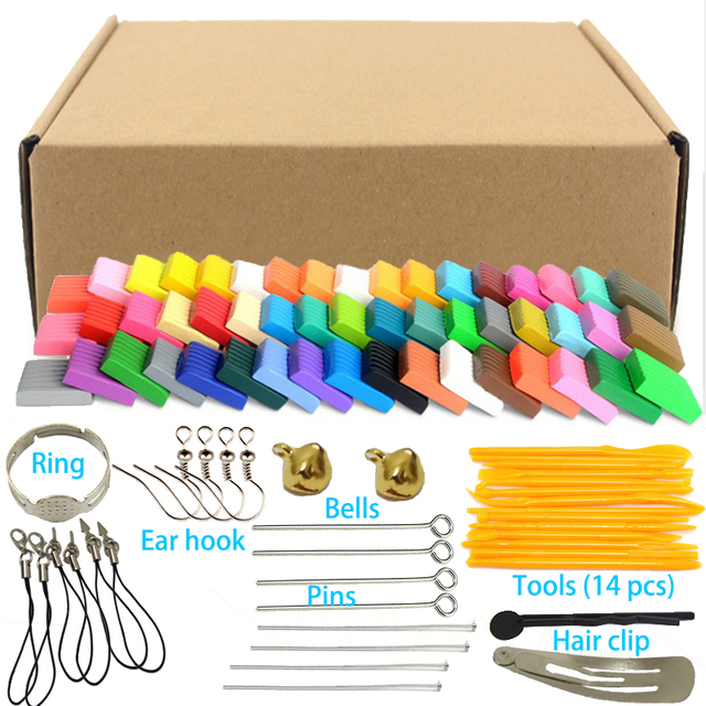 50 Colors Fimo Polymer Clay Modeling Clay Floam Slime Fluffy Slime Toys Fluffy Slime Box Light Plasticine for Children