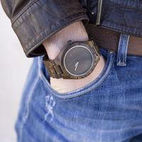 NEW UWOOD Handmade Black Men S Wooden Watches Natural Sandal Wood Dress Quartz Wristwatch Unisex Rough