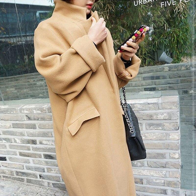 ec0ce000b127dc Women Wool Coats 2016 Winter Thick Cashmere Coat Women Beige Coat Trench  Wool Coats Women Plus Size Elegant Long Jacket Black-in Wool & Blends from  Women's ...