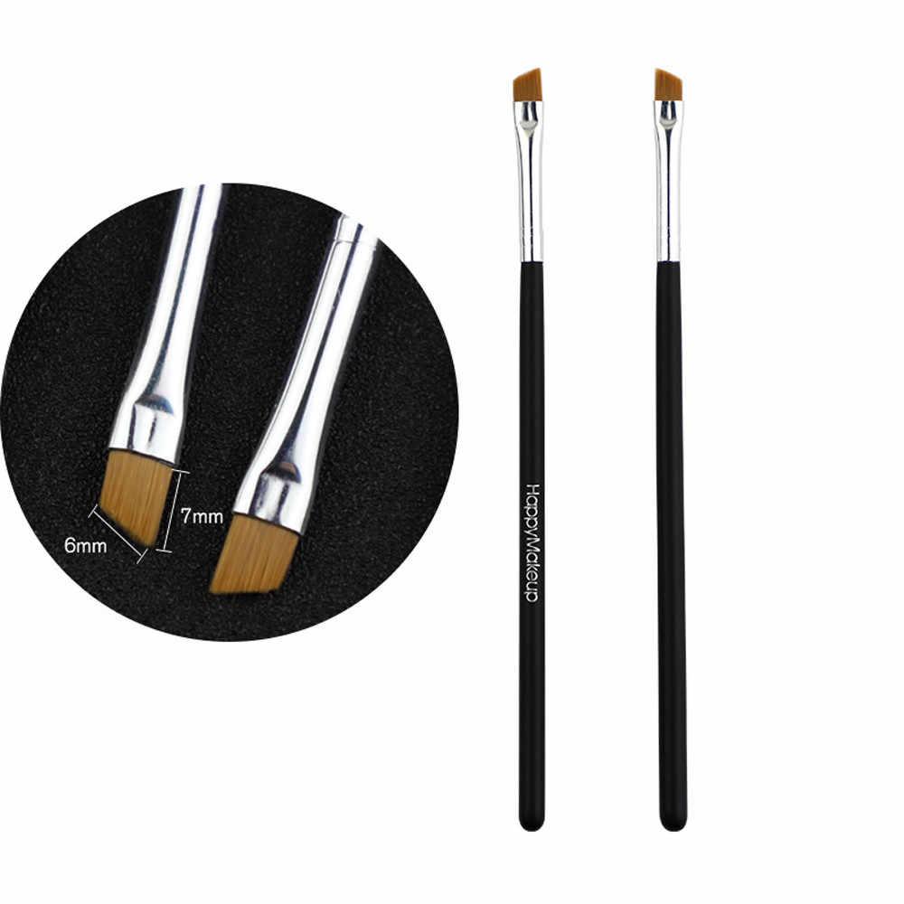2 adet makyaj fırçası kozmetik fırçalar yüz burun fırçalar kapatıcı vakfı kaş Eyeliner allık tozu makyaj aracı kaş