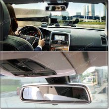 Car interior Rearview mirror decorative frame cover trim Chrome ABS strip Car styling sticker for Volvo XC60 V60 S40 S60
