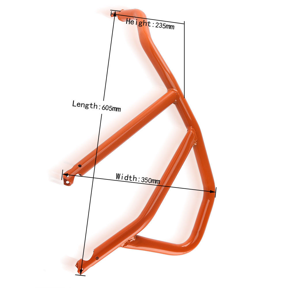 Orange Motorcycle Engine Bumper Upper Guard Crash Bars Protector Steel For KTM 1050 1190 Adventure R 2013 2014 2015 2016 in Bumpers Chassis from Automobiles Motorcycles