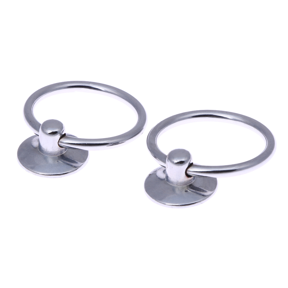 2PCS Round Pull Handle Knobs Knob Ring Metal Stainless Steel Handle Bar Drawer Handle Furniture Hardware Cabinet Drawer Drop 2pcs set stainless steel 90 degree self closing cabinet closet door hinges home roomfurniture hardware accessories supply