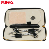 Riwa Brand Professional Hair Scissors Set 6 5 Inch Cutting Thinning Scissors With Leather Bag RD