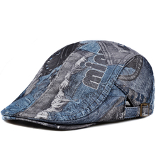 43ccb4c5552 2019 New Print Sheepskin Genuine Leather Beret Hat Boina Masculina Flat Cap  Beret Homme High Quality