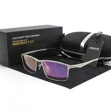 Hdcrafter 안경 프레임 지우기 렌즈 안경 프레임 남성 광학 처방 근시 프레임 여성 컴퓨터 안경 읽기