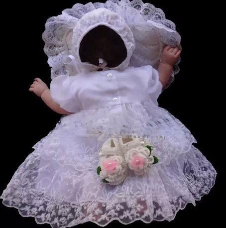 New original Design High quality  Baby girl Christening Gown wedding dress Newborn formal Baptism dress Toddler Clothing sets new original ifs204 door proximity switch high quality