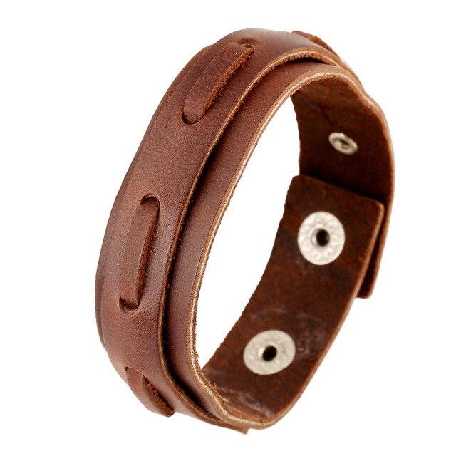 f17731a86bd Turc Brun Rétro Tressé DIY En Cuir Manchette Bracelets Pour Hommes Amitié  Bracelet Braclets Hommes Pulseira
