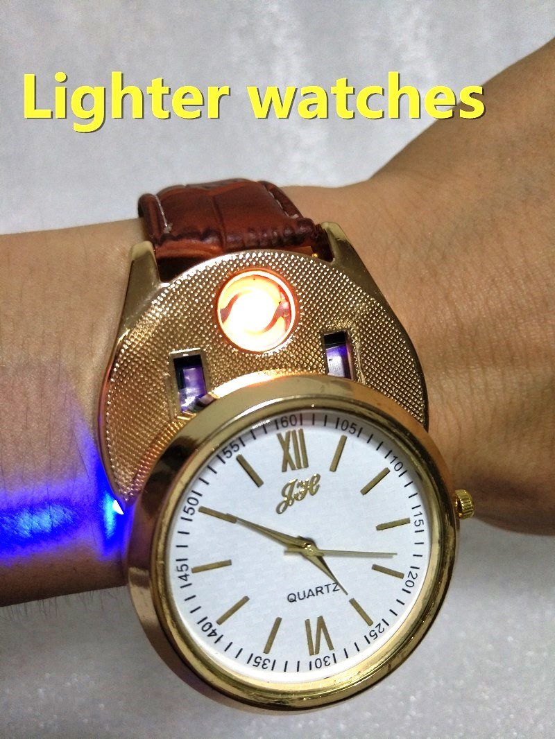 2017 new Lighter Watches Men's Quartz Wristwatches USB Charging F880 sports watches with Windproof Flameless Cigarette Lighter lighter watch men s sports casual quartz watches with leather strap windproof flameless cigarette lighter usb charging f665