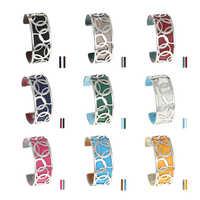Legenstar Love Manchette Bracelet & Bracelet pour femme acier inoxydable Bracelet Argent Manchette Bracelet Interchangeable Bracelet en cuir