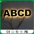 Personalizado Decorativo LED backlit acender letras sinal de halo iluminado iluminado LEVOU cartas sinal de metal cor de ouro