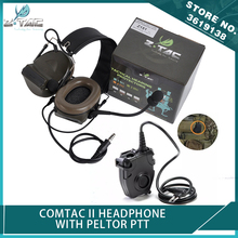 New Z-Tactical Z-TAC Softair Comtac II Peltor Headphone No Noise Reduction Function with PELTOR PTT Push To Talk Headset Adapter