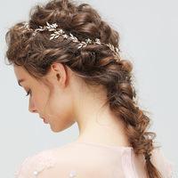 Dower me Vintage Gold Leaf   Hair   Vine Pins Bridal Headband   Wedding     Hair   Accessories Pearls Women   Jewelry