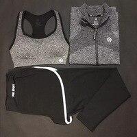 3pcs Jackets/Bra/Pants Dry Fit Yoga Set Women Sport Set Gym Clothes Sports Fitness Jumpsuit Women Yoga Suit for Girls Meditation