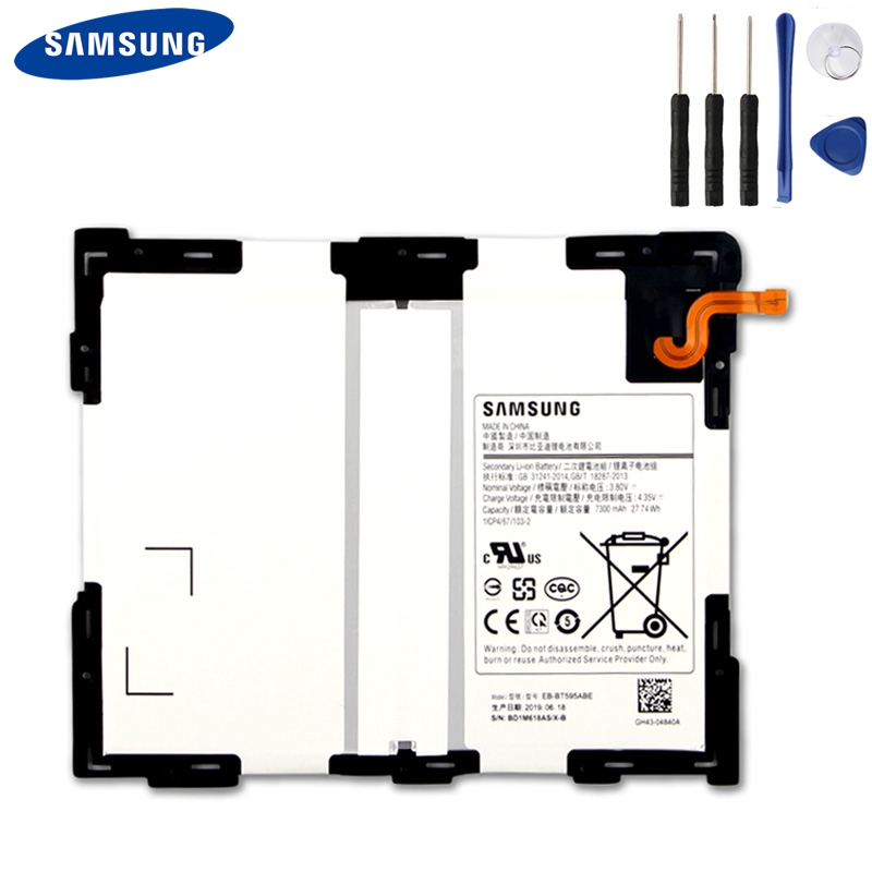 Samsung Original Replacement Tablet Battery EB BT595ABE For Samsung Galaxy Tab A2 10 5 SM T590 T595 Tablet Battery 7300mAh in Mobile Phone Batteries from Cellphones Telecommunications