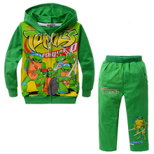 2016 Fashion Winter Suits For Boys Ninja Turtles Winter Boys Clothes Kid Winter Hooded Coat Clothing Boy Kids Clothing ASL081