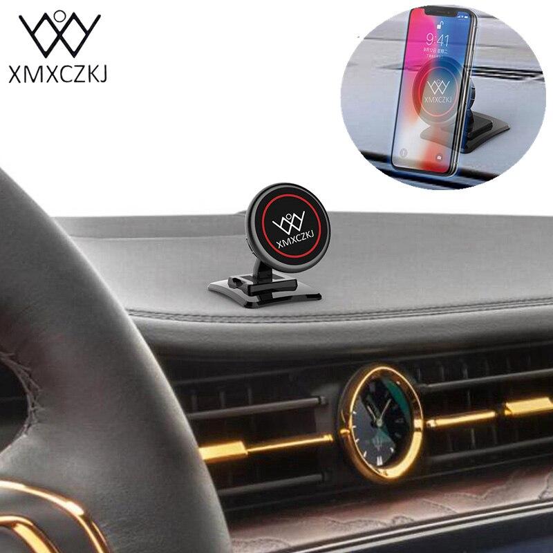 XMXCZKJ Magnétique Support de Téléphone De Voiture Aimant Stand 3 m Adhésif Couvrant Tableau de Bord Support Universel Pour Iphone X 8 Samsung s7