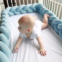 Accessories Baby Braid Cradle Fence Children S Infant Creeping Guardrail Bed Safety Rail Protect The Baby