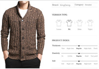 New Brand Sweater Men V Neck Solid Slim Fit Knitting Mens Sweaters Cardigan Male Fashion Casul Drop shipping clothes Plus size