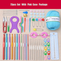 New 73Pcs Crochet Hook Set Mix Sizes Hook With Case Weaving Craft Tools Women DIY Sweater Scarf Needlel Sewing Tools Accessory
