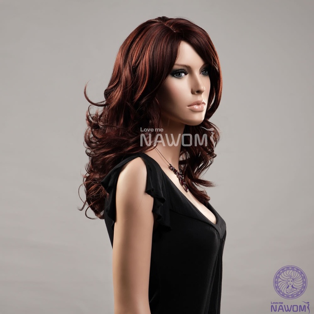 Light Brown Hair wigs for women  medium long wigs synthtic 100% Kanekalon wigs  online real looking hair wigs 08fc9b6da074