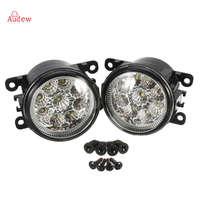 2 יחידות גובה Power LED Side ערפל קל Lamp הרכבה של אקורה/הונדה/פורד/פוקוס/סובארו/Jaguar/לינקולן/ניסאן/סוזוקי