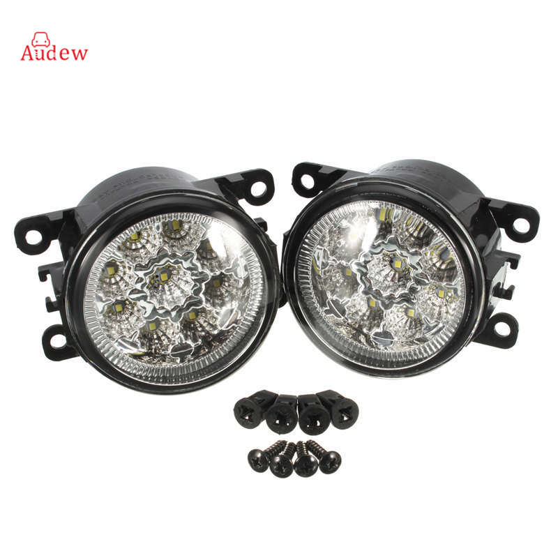 2Pcs Hight Power LED Side Fog Light Lamp Assembly For Acura /Honda /Ford /Focus /Subaru /Jaguar/Lincoln/Nissan/Suzuki dwcx fog light lamp female adapter wiring harness sockets wire connector for ford focus acura nissan honda cr v infiniti subaru