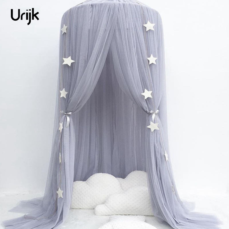 Urijk Net Baby Crib Tents Bed Curtain Hung Dome Mosquito Net Kids Girls Hanging Mosquito Net Tents for Children Room
