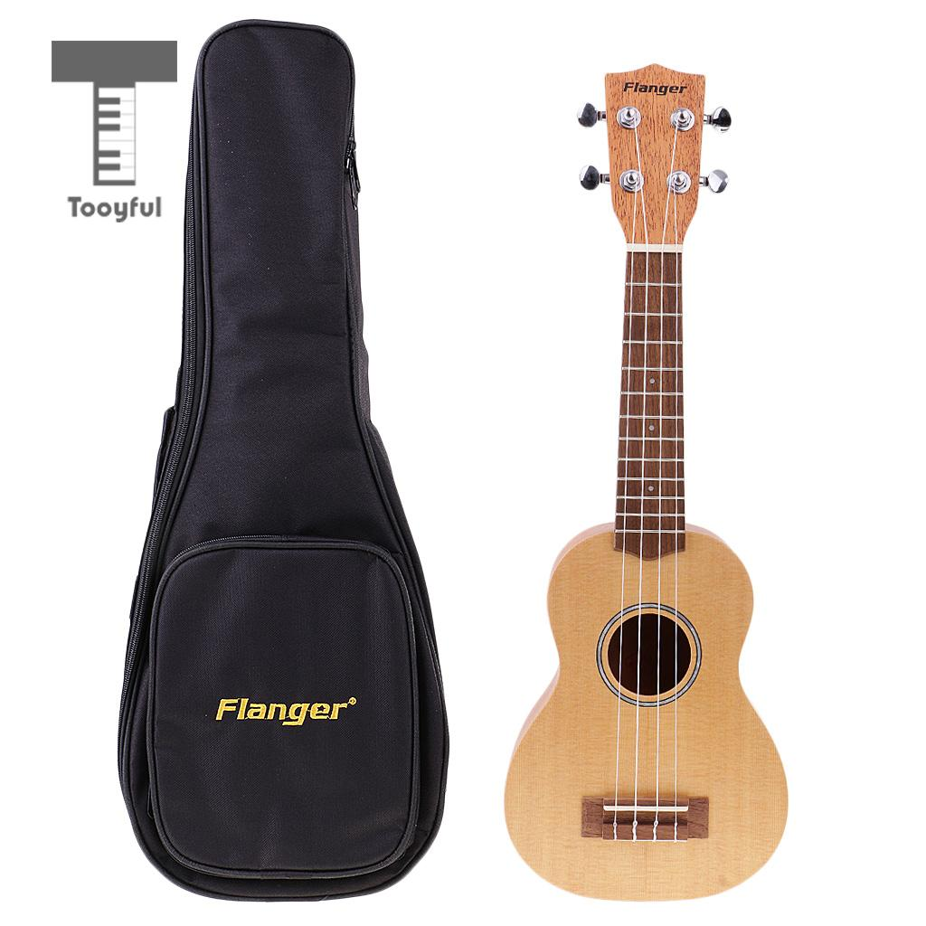 Tooyful 21'' Ukulele Uke Concert Hawaii Acoustic Guitar 4 String Musical Instrument with Big Bag for Beginners Students Gift zebra professional 24 inch sapele black concert ukulele with rosewood fingerboard for beginner 4 stringed ukulele instrument