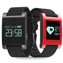 2017 DM68 смарт-браслет трекер монитор сердечного ритма Смарт-браслет на наручные часы измерять кровяное давление будильник человек телефон