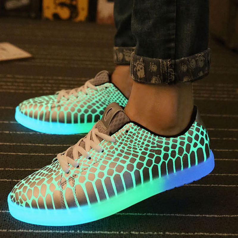 10695373f286 Luminous Led shoes women men unisex rubber Fashion Casual Lighted for adults  shoes Casual Fluorescent Light shoes luminous shoes-in Men s Casual Shoes  from ...