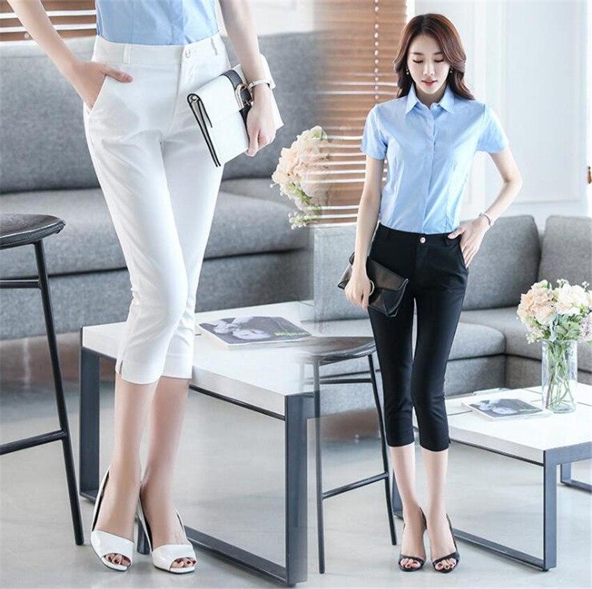 KMUYSL 2018 nuova versione Coreana piedi fasciati pantaloni Della Matita a vita alta sottile di colore Puro professionale KF009