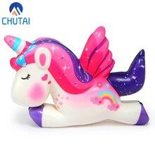 Kawaii Pegasus Unicorn Squishy PU Мягкий медленно поднимающийся ароматизированный хлеб Squeeze игрушки Моделирование Ремесло Декор Рождественский подарок для детей 11*8*3 см