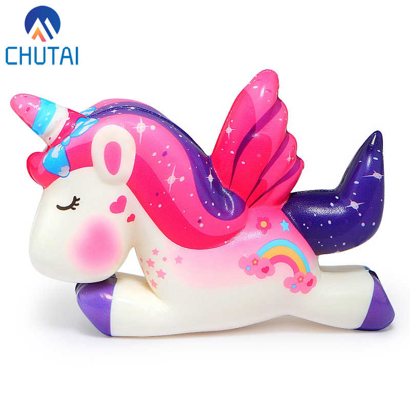 Kawaii Pegasus Unicorn Squishy PU Squishy Slow Rising Scented Bread Squeeze Toys Simulation Craft Decor Xmas Kids Gift 11*8*3CM