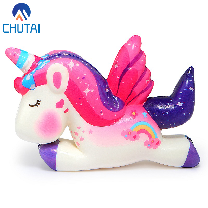 Kawaii Pegasus Unicorn Squishy PU Squishy Slow Rising Scented Bread Squeeze Toys Simulation Craft Decor Xmas Kids Gift 11*8*3CM(China)