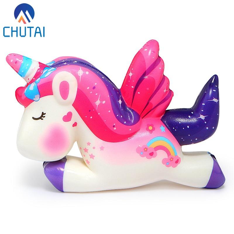Kawaii Pegasus Unicorn Squishy PU Squishy Slow Rising Scented Bread Squeeze Toys Simulation Craft Decor Xmas Kids Gift 11*8*3CM