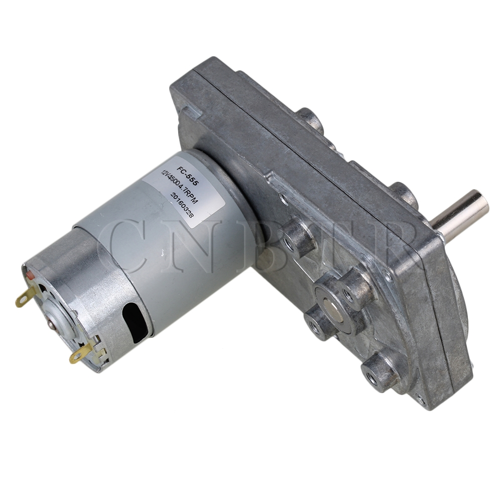 CNBTR Electric High Torque Square Gearbox Geared Motor Silver Metal DC 12V 4.7RPM  цены