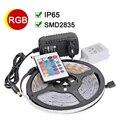 Impermeable IP65 RGB LLEVÓ la Tira 2835 SMD DC12V LLEVÓ la Luz 5 M 300 led Con Control Remoto IR 24Key 2A fuente de Alimentación de Navidad lámparas