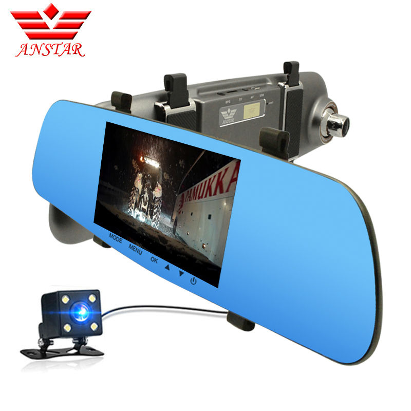 ANSTAR 5 Car Dvr RearView Mirror Camera Car Dash Camera Dual Lens FHD 1080P Automobile DVRs Parking Assistance Video Recorder