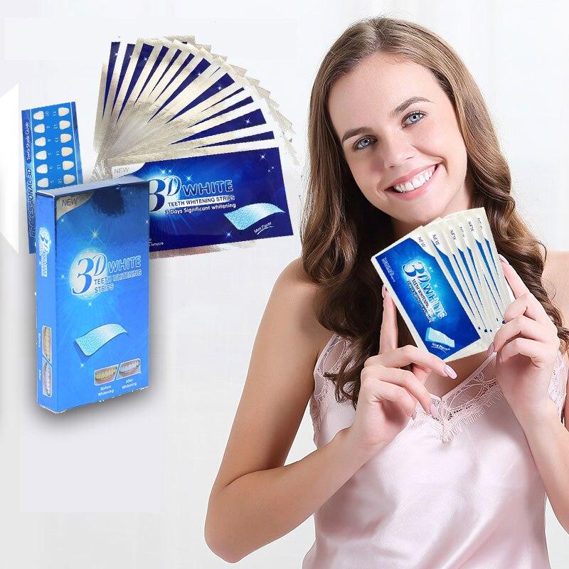 3D White Gel Teeth Whitening Strips Dental Bleaching Oral Care Hygiene Tools Dental Perfect Smile Professional Effects недорго, оригинальная цена