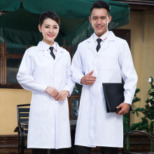 women or men white Medical Coat Clothing Medical Services Uniform Nurse Clothing Long-sleeve Polyester Protect lab coats Cloth