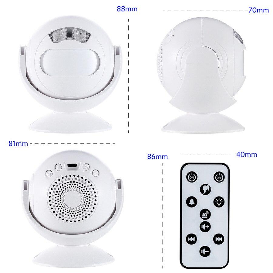 SMATRUL Wireless Doorbell Welcome IR Infrared motion sensor Alarm Cute mini home shop Door Bell Chime night light Deaf 8