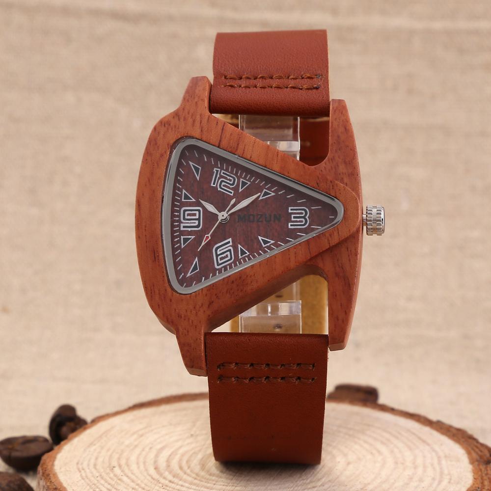 Prix pour Hommes Lady Bois Poignet Montres Véritable Vache Bracelet En Cuir Horloge Homme Top Marque De Luxe Montre de bois de Santal Mâle Femmes Relogio