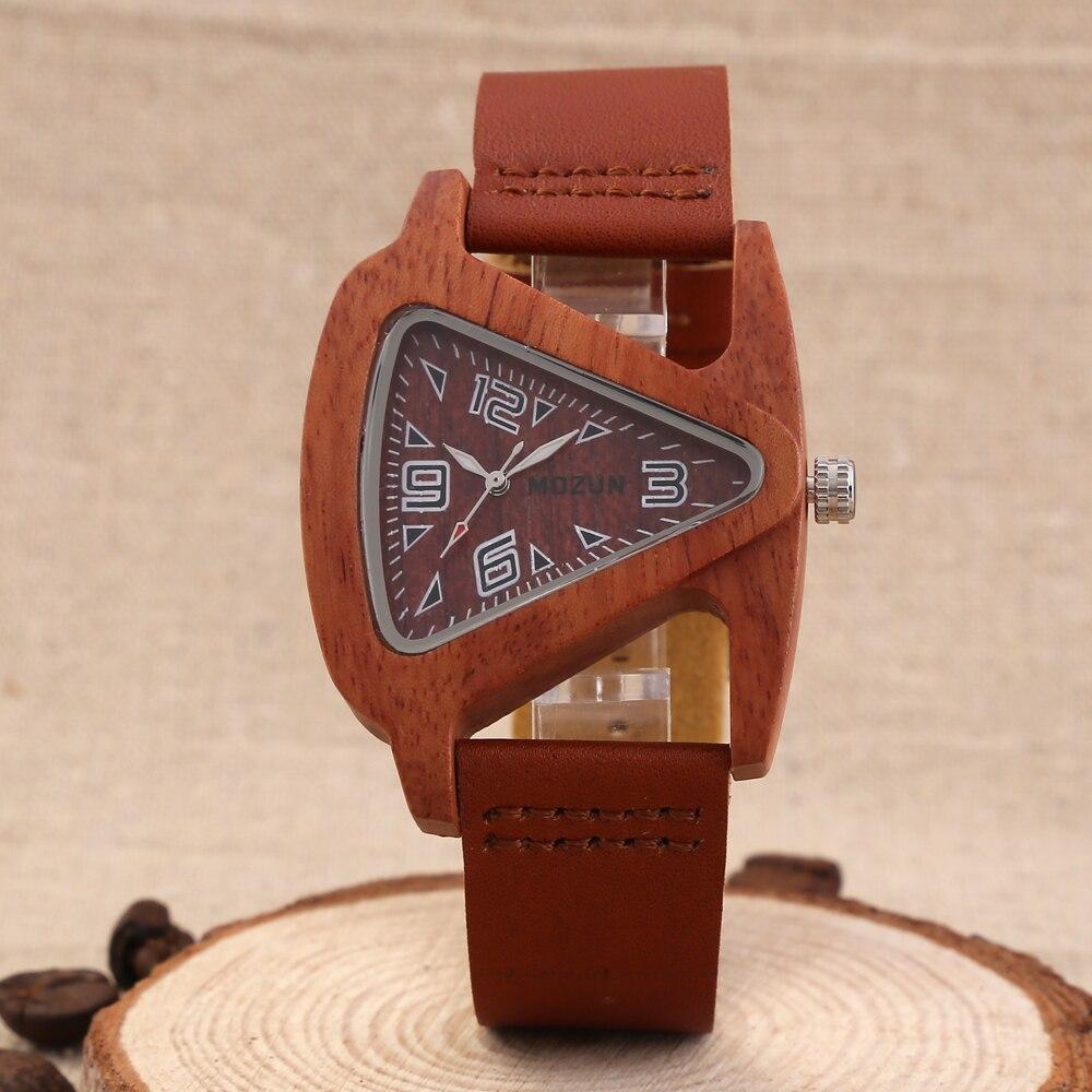 Mens Lady Wood Wrist Watches Genuine Cowhide Leather Strap Clock Man Top Brand Luxury Sandalwood Watch Male Women Relogio