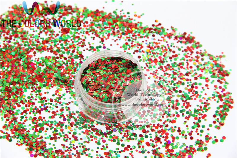 Xmas-10 Mix shiny christmas glitter holographic  colors and  shapes spangles glitter for nail  Art  or  DIY decoration 1pack=50g tcf510 solvent resistant neon rose carmine color mickey mouse shape spangles for nail polish and other diy decoration1pack 50g