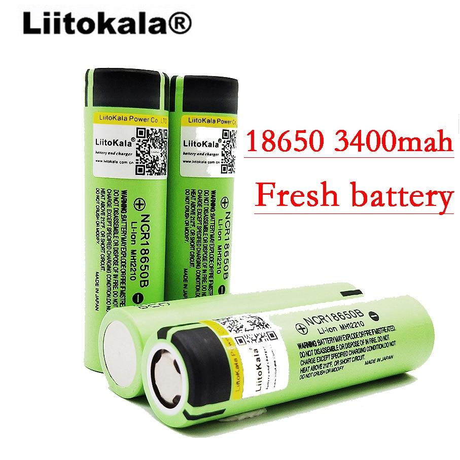 Liitokala 2017 4pcs / lot New Original <font><b>18650</b></font> NCR18650B rechargeable <font><b>battery</b></font> <font><b>3400</b></font> <font><b>mah</b></font> li-ion 3.7V