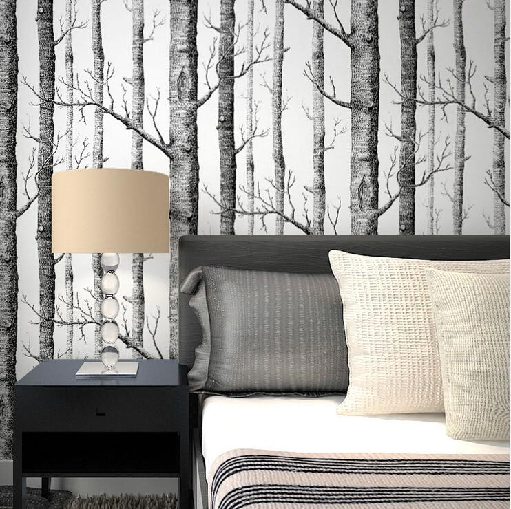 Online Kaufen Großhandel Moderne Tapeten Aus China Moderne Tapeten ... Wohnzimmer Tapeten Schwarz Weis
