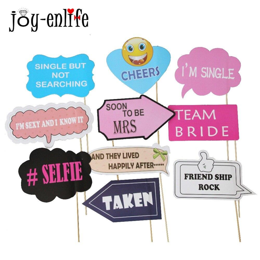 JOY-ENLIFE 10pcs Bachelorette Party Photo Props TEAM BEIDE On A Stick Booth Photograph Hen Party Supplies Face Mask Guest Favors