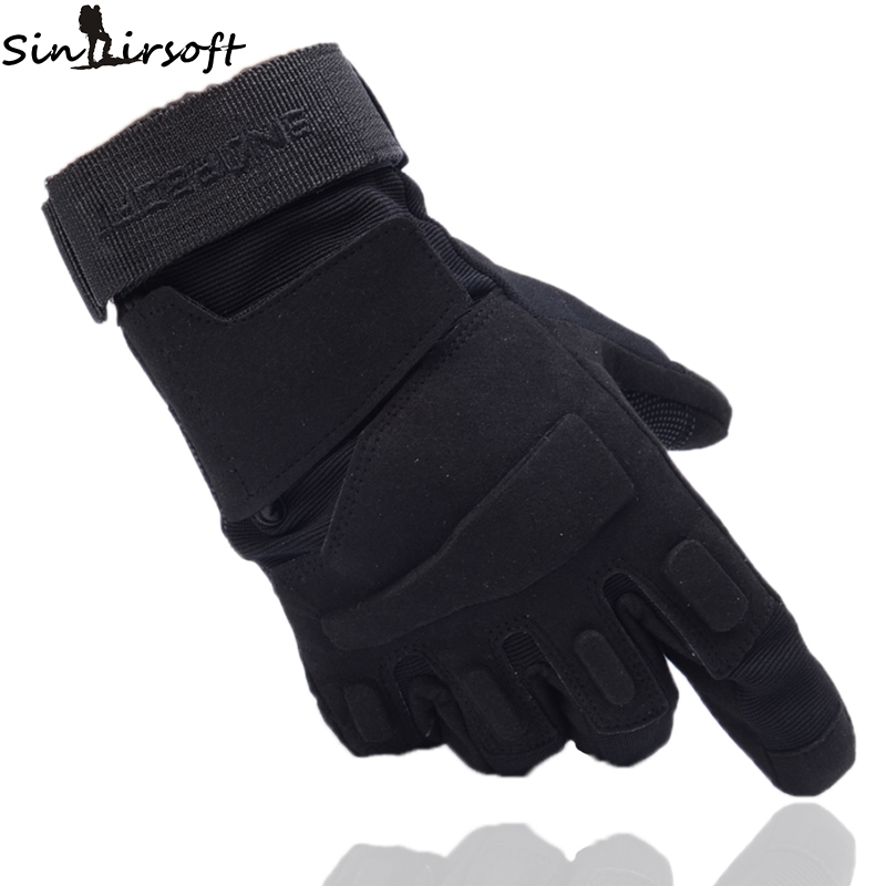 SINAIRSOFT Outdoor Climbing Gloves Sport Camping Hiking Riding Armor Tactical Full Finger Gloves