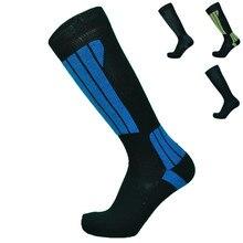 1 пара зимние мериносовая шерсть махровые теплые лыжные носки мужские носки Длинные Носки